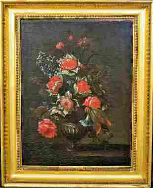 Still Life Flowers In A Vase Oil Painting
