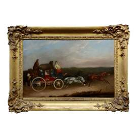 Royal Mail Coach Oil Painting
