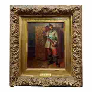 Portrait of German Cavalier Oil Painting