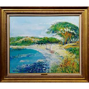 Palombaggia Beach in Corsica Oil Painting
