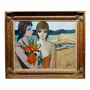 Women at the Beach Oil Painting