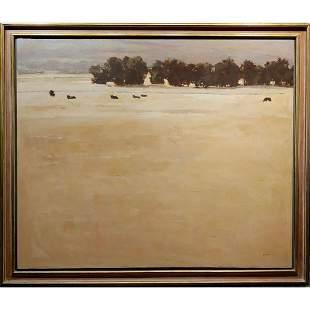 Pasture Landscape Oil Painting