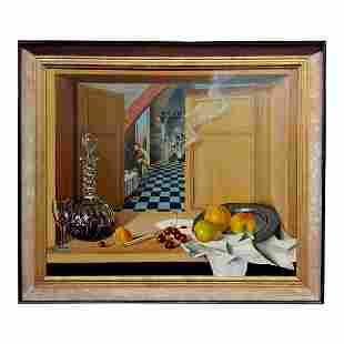 Country Kitchen Interior Still Life Oil Painting