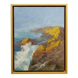 Laguna Beach Rocky Coastline Oil Painting