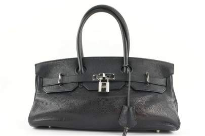 Hermes Rare Black Clemence Leather JPG Birkin