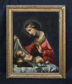 Madonna & Baby Oil Painting