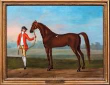 """Wilson's Arabian"" Oil Painting"