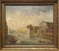 Venice Canal View Gondola Landscape Oil Painting