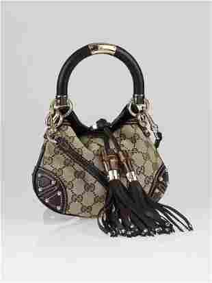 Gucci GG Canvas Mini Babouska Indy Top Handle Bag