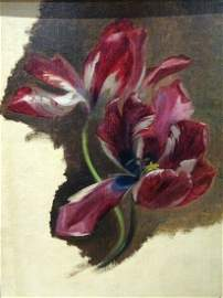 Still Life Study Of A Tulip Oil Painting