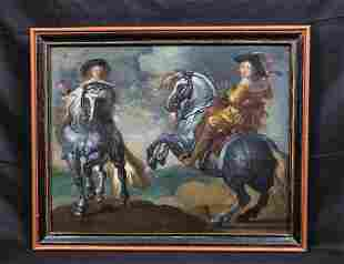 Cavaliers On Horses Oil Painting