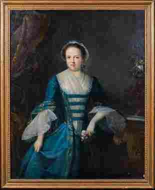 Lady & Rose Portrait Oil Painting