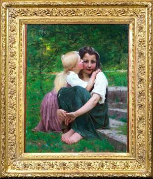 Portrait Of Two Sisters Oil Painting