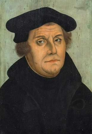 Portrait Of Martin Luther Oil Painting