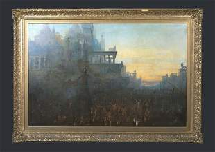 Crucifixion Of The Tyrians  Oil Painting