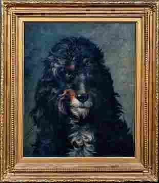 Portrait Of A Dog Poodle Oil Painting