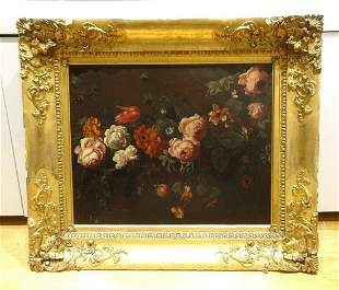 Flowers Roses Still Life Oil Painting