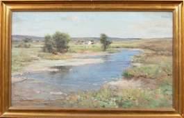 Impressionist River Landscape Oil Painting