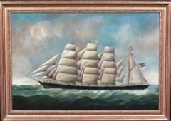"Ship Study ""Eleanor Margaret"" Oil Painting"