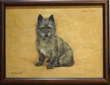 "Terrier Dog ""Jonathan"" Portrait Oil Painting"