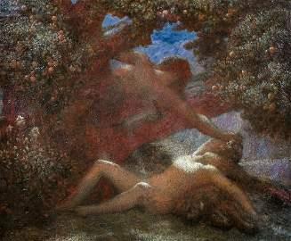 Daphne & Apollo Oil Painting