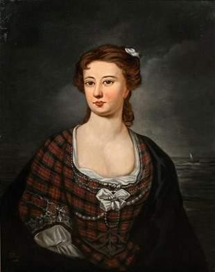 Lady Portrait Of Flora MacDonald (1722-1790) Oil