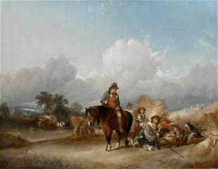 Harvest Farm Landscape Oil Painting