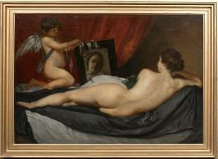 Venus & Cupid Portrait Oil Painting