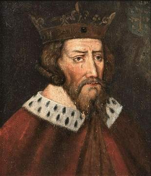 Portrait Of Alfred The Great Oil Painting