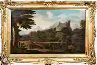 Italian Old Master Landscape Oil Painting