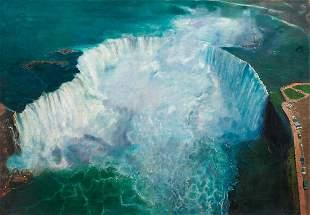 Niagara Falls Landscape Oil Painting