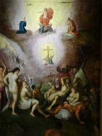 The Last Judgement Demons Angels Oil Painting