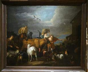 Noah's Ark & The Animals Oil Painting