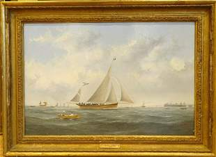 Brighton Beach Pier Oil Painting
