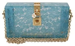 Blue Taormina Lace Clutch Borse BOX Light Purse