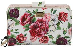 Multicolor Floral Card Coin Bill Clutch Womens Wallet