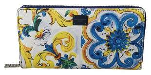 Majolica Dauphine Leather Continental Clutch Wallet