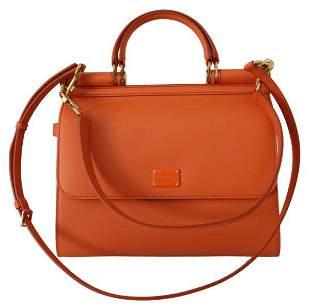 Orange Leather Purse Borse Satchel Shoulder SICILY Bag