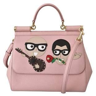 Pink Leather #dgfamily Borse Satchel Hand SICILY Bag