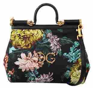 Floral Jacquard Snakeskin Satchel Shoulder SICILY Bag