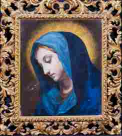 Mary Madonna Portrait Oil Painting