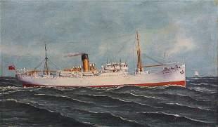 Cargo Ship Study S.S. Reventazon of Elders & Fyffes Ltd