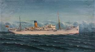 Cargo Ship Study S.S. Manzanares of Elders & Fyffes Ltd