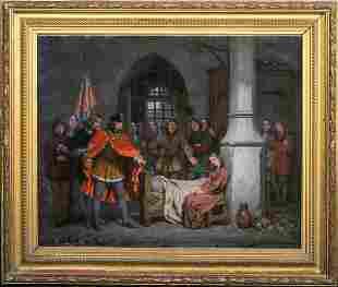 Saint Joan Of Arc Prison Scene Oil Painting