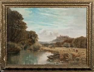 Windsor Castle Landscape Oil Painting