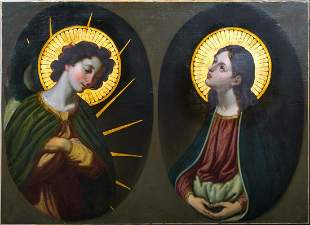 The Annunciation Angel & The Virgin Mary Oil Painting
