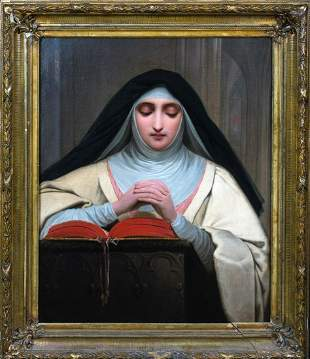 Portrait Of Nun Saint Terese Of Avila Oil Painting