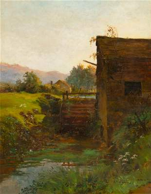 Watermill, Near Dundee Oil Painting