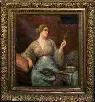 Portrait Of A Italian Lady Oil Painting