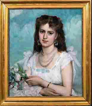 Portrait Madame De Winne Oil Painting
